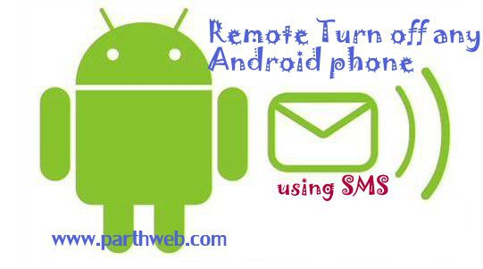 remote turn off android using sms
