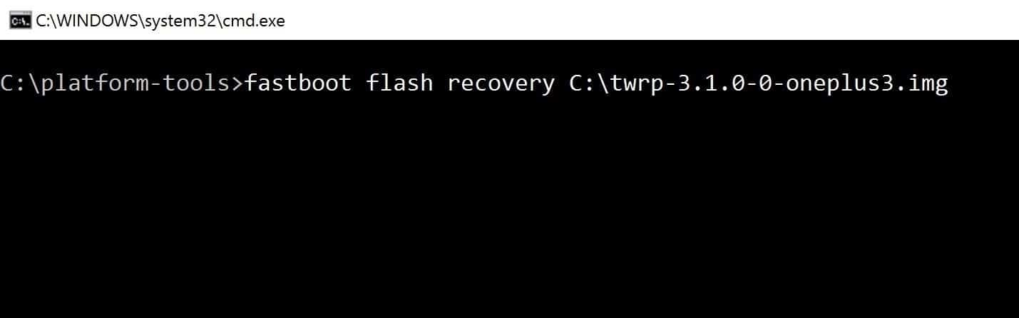oneplus 3 flash recovery