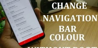change navigation bar color samsung
