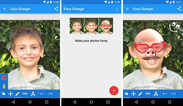 funny face maker for android