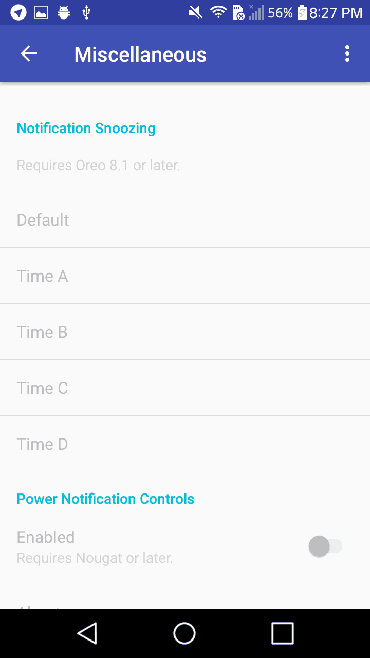 notification snooze duration, android 8.1 oreo