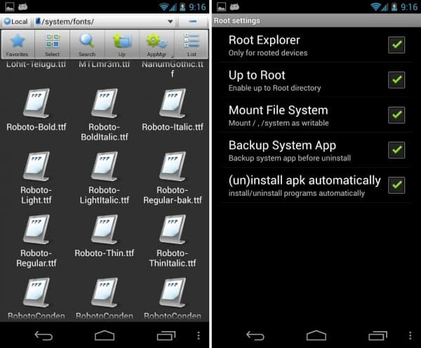 how to change fonts on android, android default fonts, change android system fonts